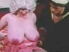 Mature with Enormous Big Boobs and Sailor 1960 porn video