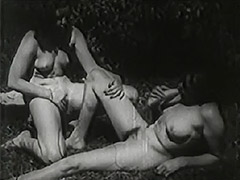 Two Women Eat Pussy Outdoors 1930s 1930 porn video