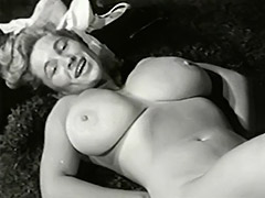 Enormous Tits Under Sexy White Lingerie 1950 porn video