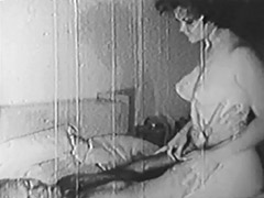 Sexy Couple Teasing and Kissing 1950 porn video
