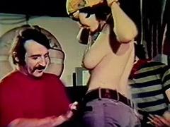 1960, Big Cock, Classic, Creampie, Cumshot, Gangbang