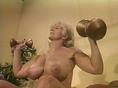 Muscled Chesty Granny Lifts Weights all Naked 1970 porn video