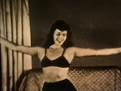 Gorgeous Girl Dancing and Stripping 1950 porn video