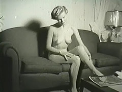 Blonde Undresses in Her Apartment 1950 porn video