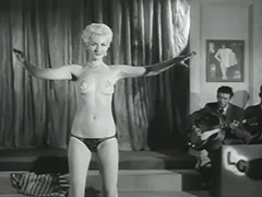 Seductive Blonde Performs a Striptease 1950