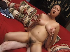 Oriental Amateur with a Hairy Pussy is Being Fucked by a Man who Gives His Cock for Sucking and then Fuck the Girl porn video