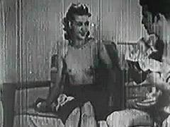 1940, Ass, Babe, Big Cock, Blowjob, Classic