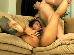 Exotic Cute Owner of a Hot Hairy Vagina Shows Her Cock Smoking and Cunt Fucking Skills till She gets a Cool Facial Cumshot