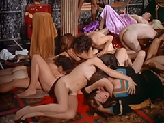 Hot Orgy in Caesar's Palace 1970 porn video
