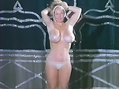 Busty Burlesque Girl Does Striptease 1960