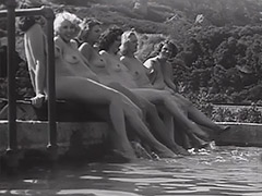 1930, Blonde, Classic, Nudist, Outdoor, Teen