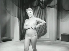 Amazing Blonde Dancing and Undressing 1950 porn video