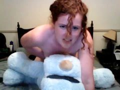 Teddy bear strap on fuck Chubby girl gets wild with her oversized teddy bear She shows that bootylic