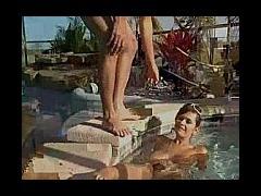 amateur blowjob at pool