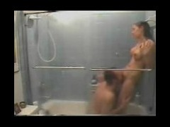 Hot shower sex voyeured Nasty lovers set the home camera in the bathroom and pretend not to notice i