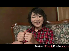 Smiley Asian Teen Screaming Orgasm