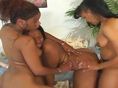 Hot Ebony Lesbian Threesome