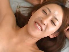Pretty Maho Uruya gets fucked hard and gets massive facial
