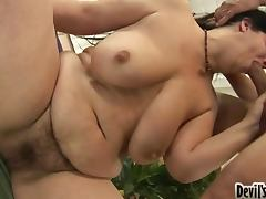 Your Mom's Hairy Pussy Gets All Full Of Fresh Cum
