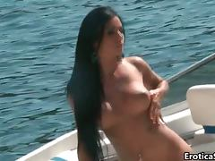 Hooters, Babe, Boobs, Brunette, Horny, Sex