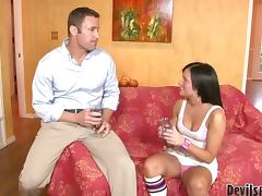 Becky Brielle the naughty teen gets fucked by her stepfather
