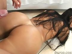 Drilling Gina Jolie's Big Brazilian Asshole in Ass To Mouth porn video