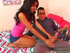 Billy Glide makes love to pretty brunette Zeina Heart