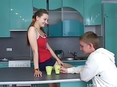Young Couple Banging In The Kitchen