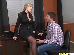 Hot Darcy Tyler gets fucked by her employee in her office