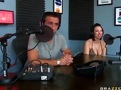 Naughty Couple Get Live Sex at a Radio Program