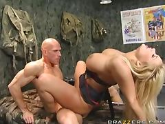 Sergeant Shyla Stylez Gets Fucked By A Recruit's Big Cock