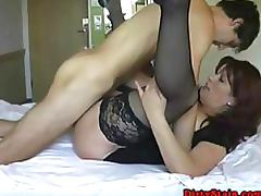 Brunette Mature Gets Fucked and Swallows Thick Jizz Amateur Porn