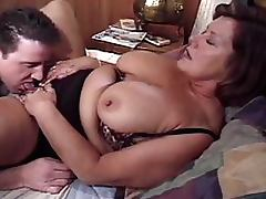 Lustful BBW Brunette Mature Gets Banged and Jizzed On Her Big Tits