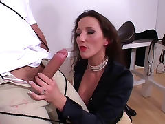 Amazing femdom handjob by hot mistress