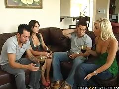 Swingers Night With The Hot Brunettes Penny Flame And Rebeca Linares porn video