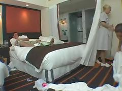 Horny Maids Have A Wild Foursome With Hotel Hosts