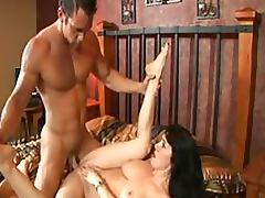 Cock Hungry Brunette MILF Rayveness Gets Fucked and Jizzed On Her Bush