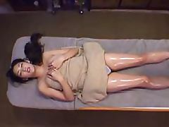 Sexy Japanese MILF With a Hairy Pussy Gets a Hot Lesbian Massage