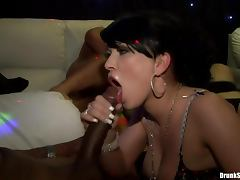 Lights and fucking at a hot club orgy