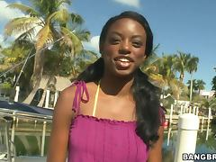Skinny Ebony Model Gets Banged Hard