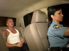 Police, Big Tits, Blowjob, Brunette, Cop, Dirty