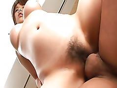 Big Boobed Asian Babe Aoi Mizuno Sucks Cock and Gets Fucked Hard