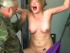 Tit pain for sexy bound girl