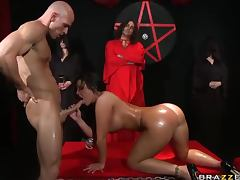 Chick fucked at occult ceremony