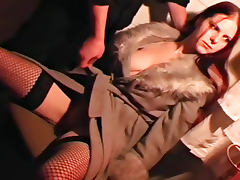 Bound curvy girl loves tit pain
