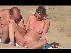 Lustful Voyeur Couple Caught Getting Naughty On a Nude Beach