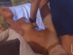 Hot Ass Blonde Ashley Jensen Sucks and Fucks For Facial In Lingerie