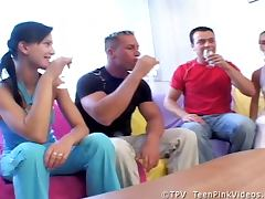 Angel and Mili Foursome Swingers Party With Fucking