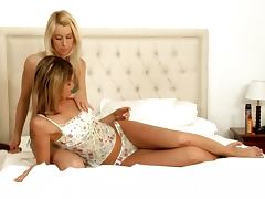 Two gorgeous lesbians getting pleasure in 69 position