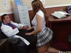 Miniskirt, Ass, Babe, Big Cock, Big Tits, Blowjob